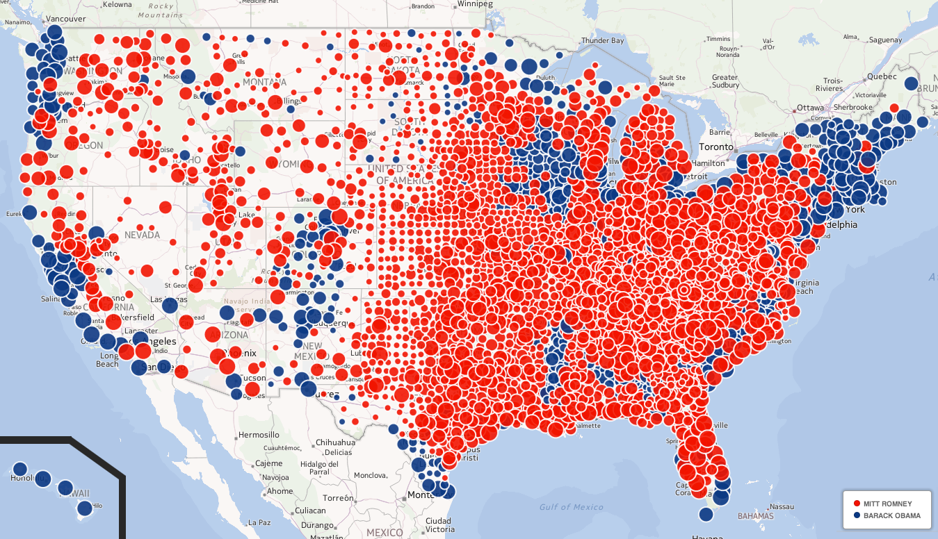 Us county voting map