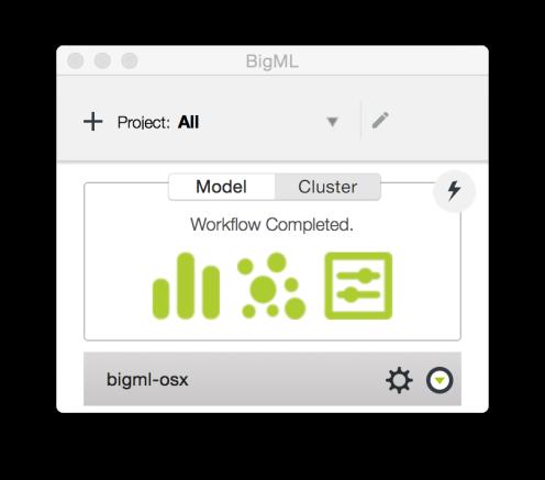 BigML Cluster Workflow