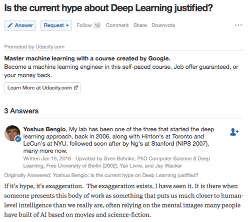 Deep Learning Hype