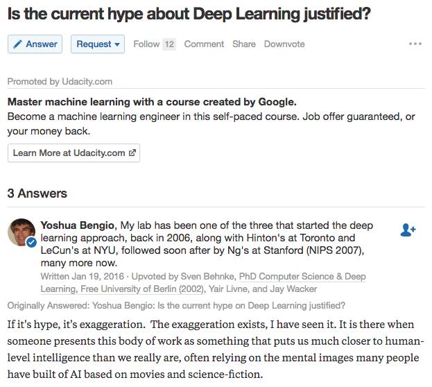 Deep Learning Hype