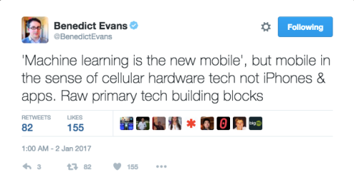 Benedict Evans on Machine Learning