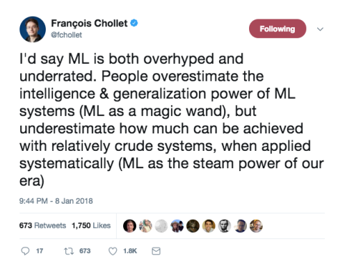 F. Chollet on ML Over:Underestimation