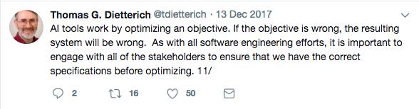 Tom Dietterich on Auto ML Risk