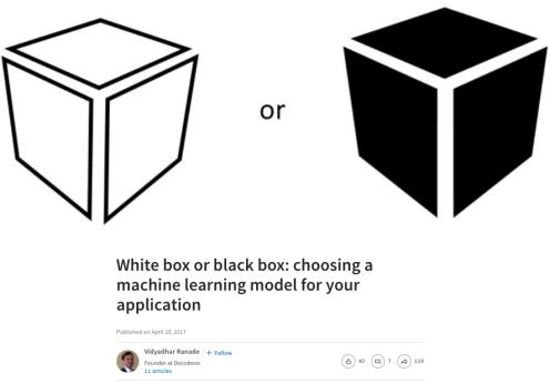 Black Box vs. White Box ML