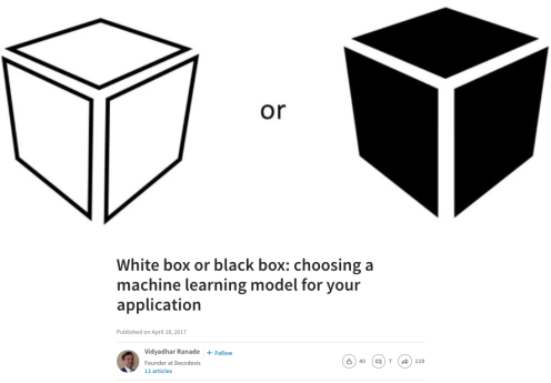 Black Box vs. White Box ML