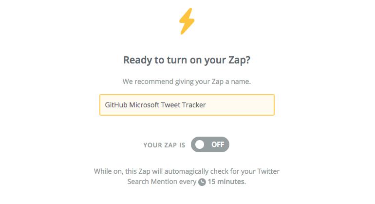 17 - Setup Zap