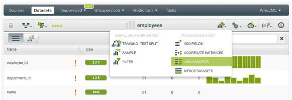 Data Transformations with the BigML Dashboard: Get your Machine