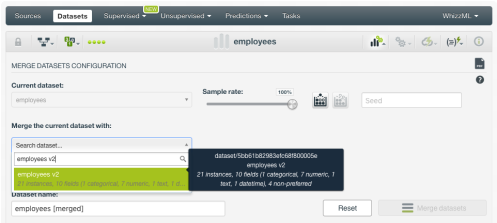 select-merge-dataset