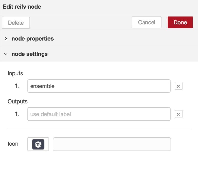 BigML Reify configuration