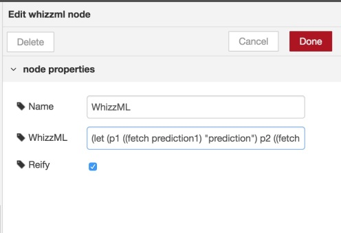 WhizzML node to select the best prediction